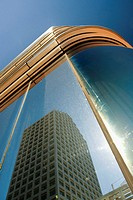 Reflection of a building on glass, Miami, Florida, USA