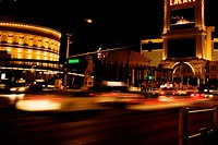 Traffic on a street, Las Vegas, Nevada, USA