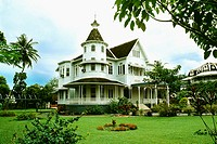 Side view of a stately mansion with a lawn in front of it, Trinidad