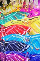 Close-up of kites in a store, Bali, Indonesia
