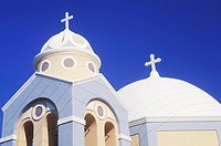 Low angle view of a church, Santorini, Cyclades Islands, Greece