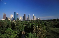 Skyscrapers in a city, Texas, USA