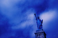 Low angle view of a statue, Statue Of Liberty, New York City, New York State, USA