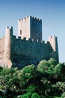 Low angle view of a castle, Fortress of Almoural, Portugal