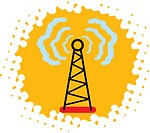 A radio tower transmitting signals (thumbnail)