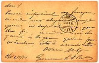Vintage postcard with script writing, marked Porto