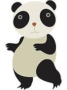 Drawing of a panda bear