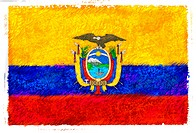 Drawing of the flag of Ecuador