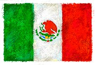 Drawing of the flag of Mexico