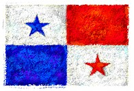 Drawing of the flag of Panama