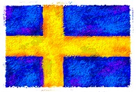 Drawing of the flag of Sweden