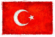 Drawing of the flag of Turkey