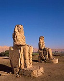 Egypt, Luxor, West Bank, Colossi of Memnon
