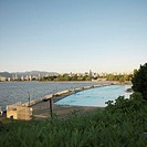 Canada, British Columbia, Vancouver, Kitsilano with Kits pool