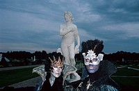 People, in, costumes, Herrenhausen, Gardens, Hanover, Lower, Saxony, Germany,