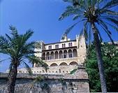 Palace, Palau, d´es, Almundaina, Palma, de, Majorca, Majorca, Balearic, Islands, Spain,
