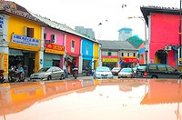 Street scene at Little India in Johor Bharu, Malaysia