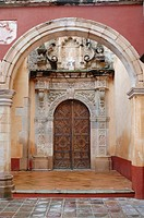 Arch and Side Entrance to La Valenciana Temple, Guanajuato Mexico