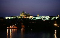 Prague, castle, at, night, Prague, Czechia, buildings