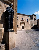 San Pedro de Alcántara statue. Golfines square. Cáceres. Spain