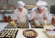 Preparing canapes, Divinus Catering, San Sebastian, Donostia, Gipuzkoa, Basque Country