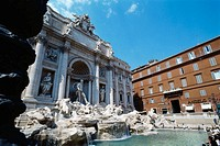 Trevi Fountain, architect Nicola Salvi. Rome. Italy