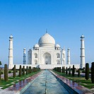 Facade of a mausoleum, Taj Mahal, Agra, Uttar Pradesh, India (thumbnail)