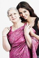 Portrait of a grandmother with her granddaughter (thumbnail)