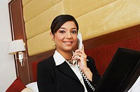 Portrait of a businesswoman talking on the telephone