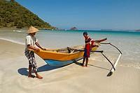Selong Blanak beach near Kuta, south of Lombok. Lombok. Indonesia