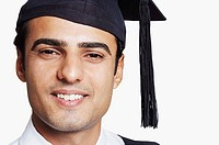 Portrait of a male graduate smiling