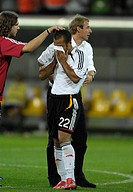 Sport, football, world championships, semi final, Germany versus Italia, 0:2, Dortmund, 4 7 2006, Thorsten Frings, Juergen Klinsmann, David Odonkor, J...