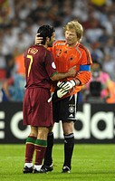 Sport, football, world championships, match for third place, Germany versus Portugal, 3:1, Stuttgart, 8 7 2006, Luis Figo, Oliver Kahn, sports, world ...