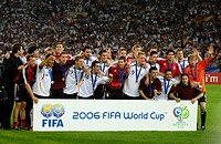 Sport, football, world championships, match for third place, Germany versus Portugal, 3:1, Stuttgart, 8 7 2006, group picture, German team, sports, wo...