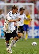 Sport, football, world championships, eighth final, Germany versus Sweden, 2:0, Munich, 24 6 2006, Lukas Podolski, footballer, sports, match, world cu...
