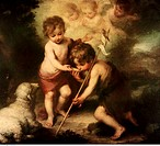 fine arts, Murillo, Bartolome Esteban, 1 1 1618 - 3 4 1682, painting, Los Ninos de la Concha, The Boys of the Shell, 1670, 40 90x48 80cm, Prado, Madri...