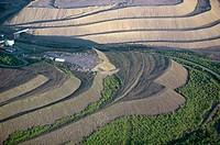 Iron mining, aerial view. Gällivare. Lappland. Sweden
