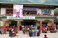 Bhutan. Thimphu. The only Cinema in Bhutan.