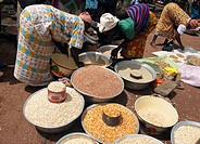 Cereals at market, Loropeni. Burkina Faso