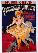 SG hist , Film, Kino, Werbeplakat, Einladung zu Vorstellung des Optischen Theaters von Emile Reynaud, 1898,