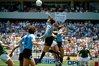 Sport / Sports, soccer, football, World Cup 1986, final round, group match, Germany against Uruguay, 1:1 in Queretaro, Mexico, 4 6 1986, scene with Th...
