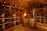 Interiors of wine cellar