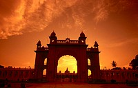 Entrance of palace, Mysore Palace, Mysore, Karnataka, India