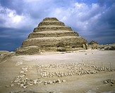 travel /geography, Egypt, Saqqara, buildings, step pyramid of Djoser, exterior view, built by Imhotep, circa 2650 B C , historic, historical, Africa, ...