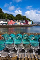 Close_up of lobster traps, Tobermory Harbour, Island of Mull, Scotland