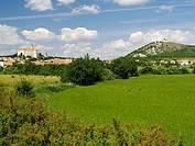 Clouds above grassy landscape, Czech Republic
