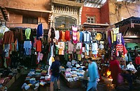 People in street market, Marrakesh, Morocco
