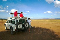 On safari in Serengeti National Park, Tanzania, Africa