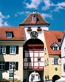 geography / travel, Germany, Baden-Wuerttemberg, Meersburg, buildings, Unterstadttor, city gate, Europe, Baden Wuerttemberg, Wurttemberg, Württemberg,...