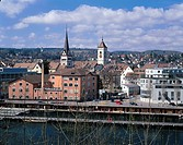 geography / travel, Switzerland, Schaffhausen Schaffhausen, city views / cityscapes, city, river Rhine, Europe,